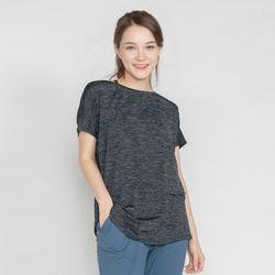 DURAN 트리아 요가복 가오리 티셔츠 DFW5003 블랙