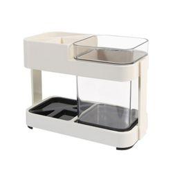 욕실 심플인테리어 싱글 라이프 칫솔꽂이 양치컵 세트