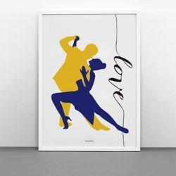 인테리어 디자인 포스터 댄싱LOVE A2(대형)
