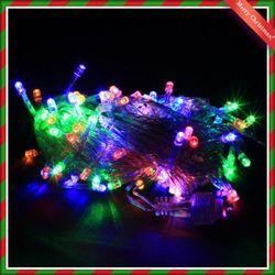 (9315980) 100구 투명선 LED 칼라전구(8M)