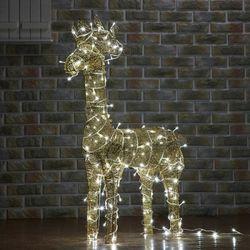 (9308470) 100cm LED 골드 반짝이 사슴 장식(대)