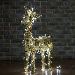 (9308460) 70cm LED 골드 반짝이 사슴 장식(중)