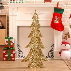 (9310390) 스팽글 크리스마스 장식(캉캉 골드 트리)