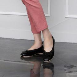 [쿠루] 여성 0.5cm 배색 밴딩 리본 플랫 G6152