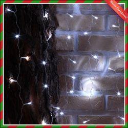 (9310950) 400구 투명선 LED 롱커튼 백색전구(1.9M)