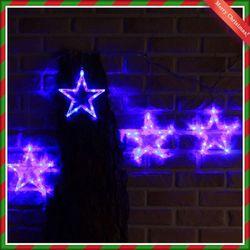 (9310920) 150구 투명선 LED 오각별 남색전구(2.7M)