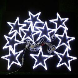 (9310910) 150구 투명선 LED 화이트별 백색전구(2.7M)
