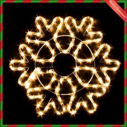(9311420) 대형 장식전구 LED 논네온 눈꽃 웜색(55CM)