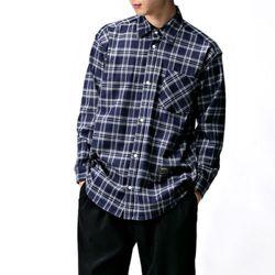 [매트블랙] 멀티 체크 기모 셔츠