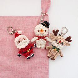 꼬꼬마 크리스마스 열쇠고리 가방걸이 장식소품 인형