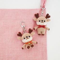 꼬꼬마 사슴 열쇠고리 가방걸이 장식소품 인형