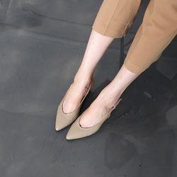 [쿠루] 여성 5cm 스텔레토 슬링백 미들힐 G6128