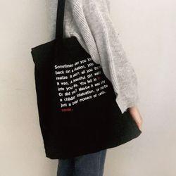 [노비오]브로멜 에코백 블랙