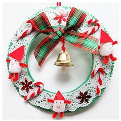 종이 리스 (5인용)  크리스마스 만들기 DIY