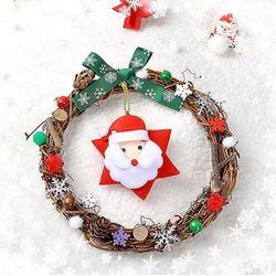 내추럴 원형리스 (3개묶음판매)  크리스마스