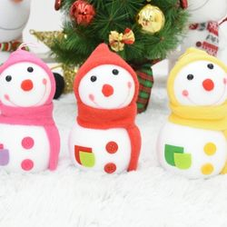 큐빅눈사람16센티 1개입 (색상랜덤) 크리스마스 장식