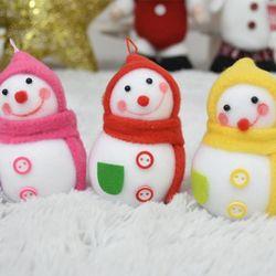 큐빅눈사람9센티 1개입 (색상랜덤)  크리스마스 장식