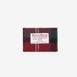 [1300K단독할인/~12/22까지] CARD CASE X HARRISTWEED Red