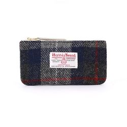 BILL POUCH X HARRIS TWEED Blue