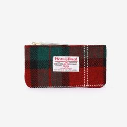 BILL POUCH X HARRIS TWEED Red