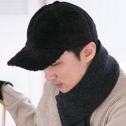 보송보송 양모 볼캡 남성 모자