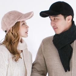보송보송 양모 볼캡 커플 모자