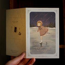 DEARMOMENT CARD 크리스마스 카드 skating girl