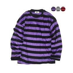 Stripe Fur Knit Top (3color)(unisex)