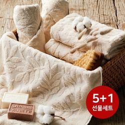 5+1 내츄럴 친환경수건 선물세트 4매