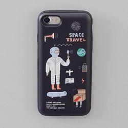 CBB SC IP Space travel - 아이폰X 아이폰87케이스