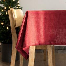 린넨 테이블 클로스 딥 레드-2인(125x130cm)