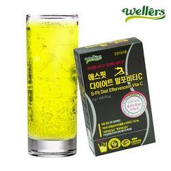 [무료배송] 웰러스 에스핏 다이어트 발포비타C 1박스