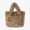 Fur Bag (dark beige) & 골드 피스 charm
