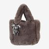 Fur Bag  (charcoal) & 블랙 스파이더맨 charm