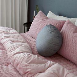 와플극세사 침구 (핑크) - 싱글풀세트