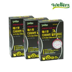 웰러스 에스핏 다이어트 발포비타C 1박스 X 3  3박스