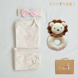 [CONY]오가닉여름탄생4종선물세트(여아3종+사자딸랑이