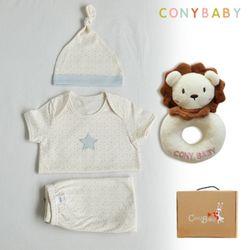 [무료배송/선물박스증정] [CONY]오가닉여름탄생4종선물세트(남아3종+사자딸랑이