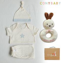 [무료배송/선물박스증정] [CONY]오가닉여름탄생4종선물세트(남아3종+토끼딸랑이