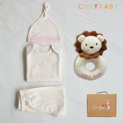 [CONY]오가닉팅커벨4종선물세트(의류3종+사자딸랑이)