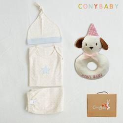 [무료배송/선물박스증정] [CONY]오가닉피터팬4종선물세트(의류3종+강아지딸랑이