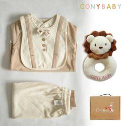 [무료배송/선물박스증정] [CONY]오가닉어린왕자4종선물세트(의류3종+사자딸랑이