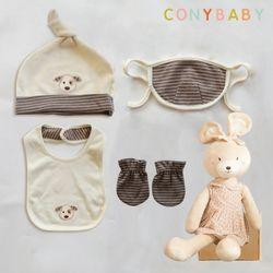 [무료배송/선물박스증정] [CONY]오가닉유아용품5종세트(소품4종+수면베순이인형
