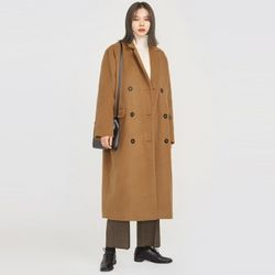 napping double wool long coat