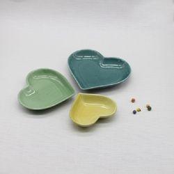 달소금 핸드메이드 도자기접시 러블리찬기세트(3p)