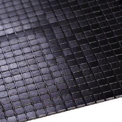 점착식 알미늄메탈타일 바둑사각 블랙10mm (HMT99308)