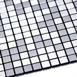 점착식 알미늄 메탈타일 바둑사각15mm (HMT99309)