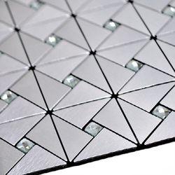 점착식 알미늄메탈타일 크리스탈 실버75mm (HMT99312)