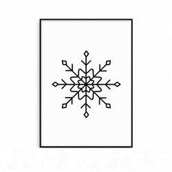 패브릭포스터 크리스마스 눈꽃 액자 [중형]