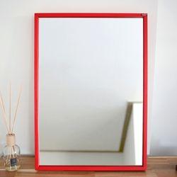 허니 500X700 화장대 탁상 거울 레드